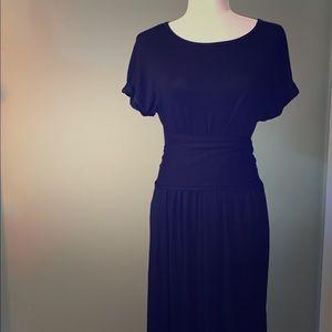 Black cotton wrap dress